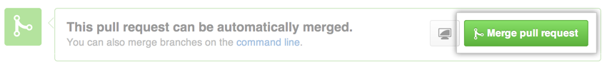Merge pull request button