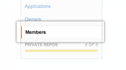 Settings sidebar with Members selected